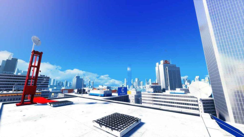 Uno dei tetti delle ambientazioni di mirror's edge