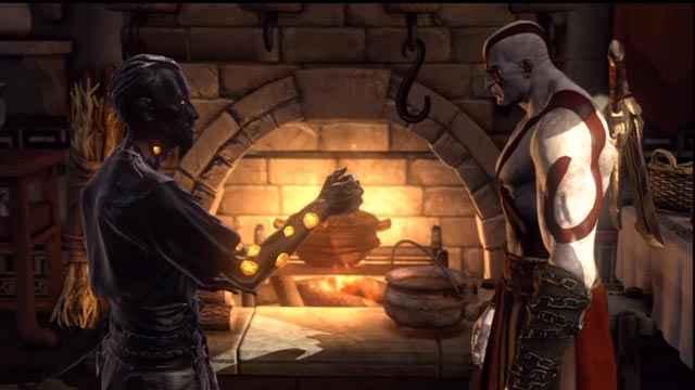 Un incontro tra Orkos e Kratos in God of War: Ascension