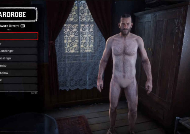 Arthur Morgan di Red Dead Redemption 2 nudo tramite una patch
