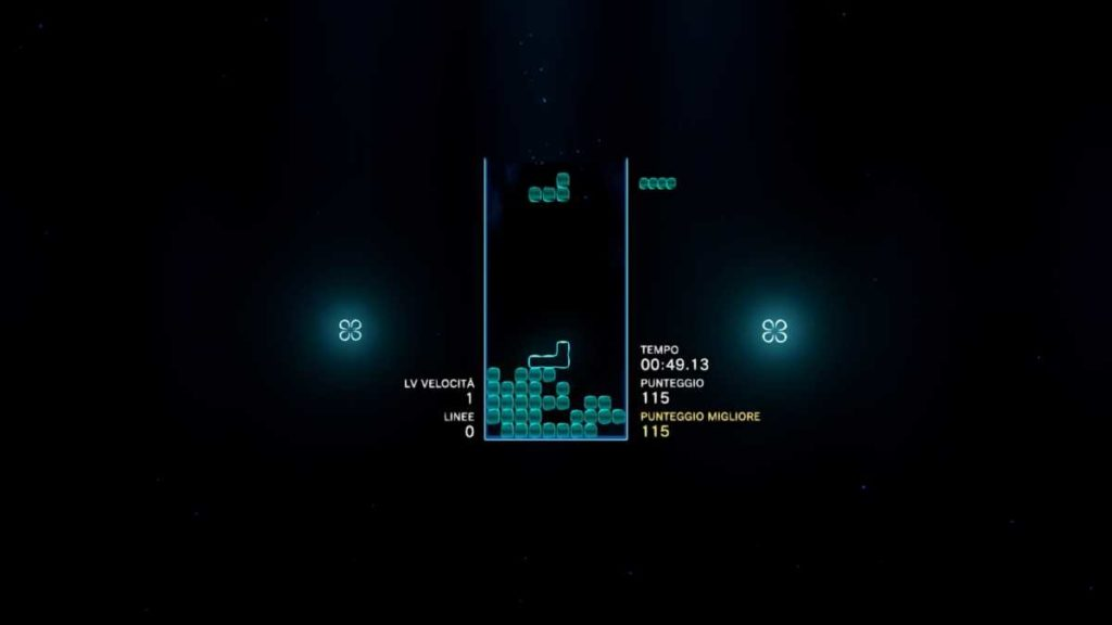 tetris effect screen del gioco