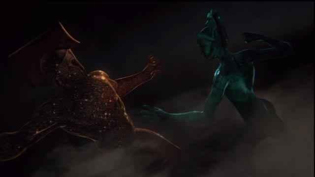 Lo scontro tra Urano e Talassa in God of War: Ascension