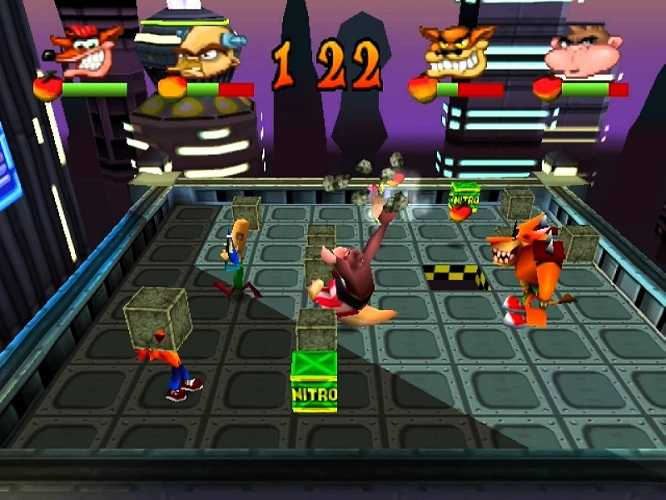crash bash, minigioco create crush