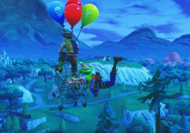 Fortnite palloncini celebrazione carrello della spesa