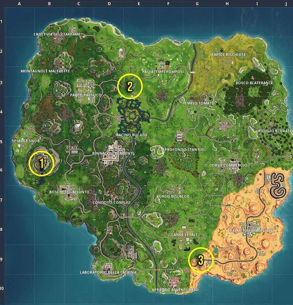 Guida Fortnite Stagione 6 Settimana 10 mappa sfida gratuita