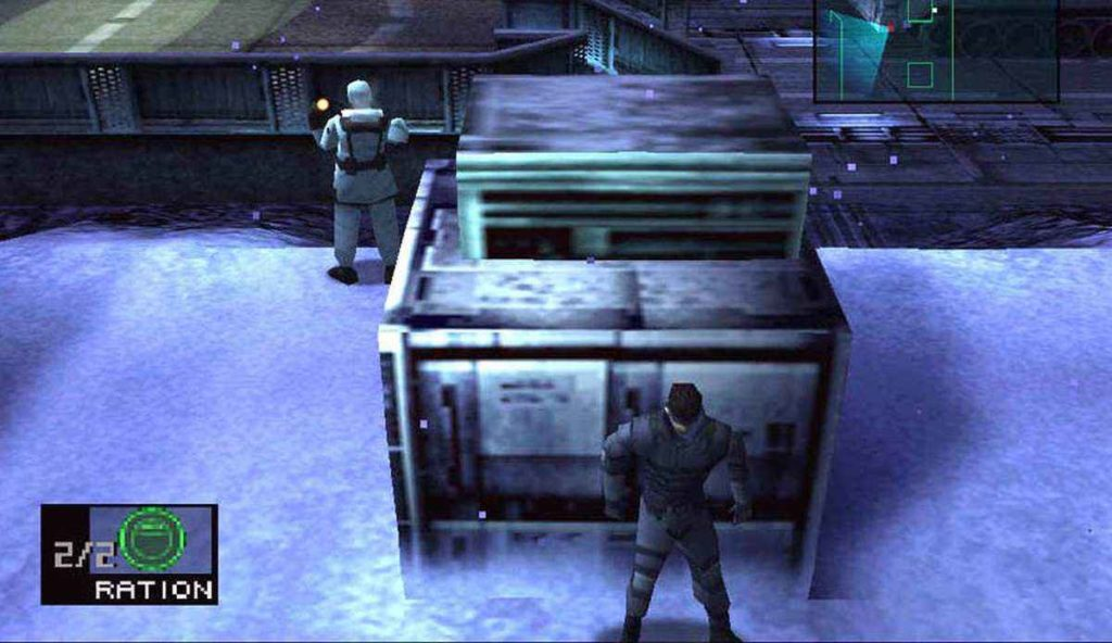 screenshot di metal gear solid per ps1