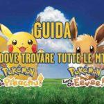 La guida con la posizione di tutte le MT in Pokémon Let's Go Evee e Pikachu