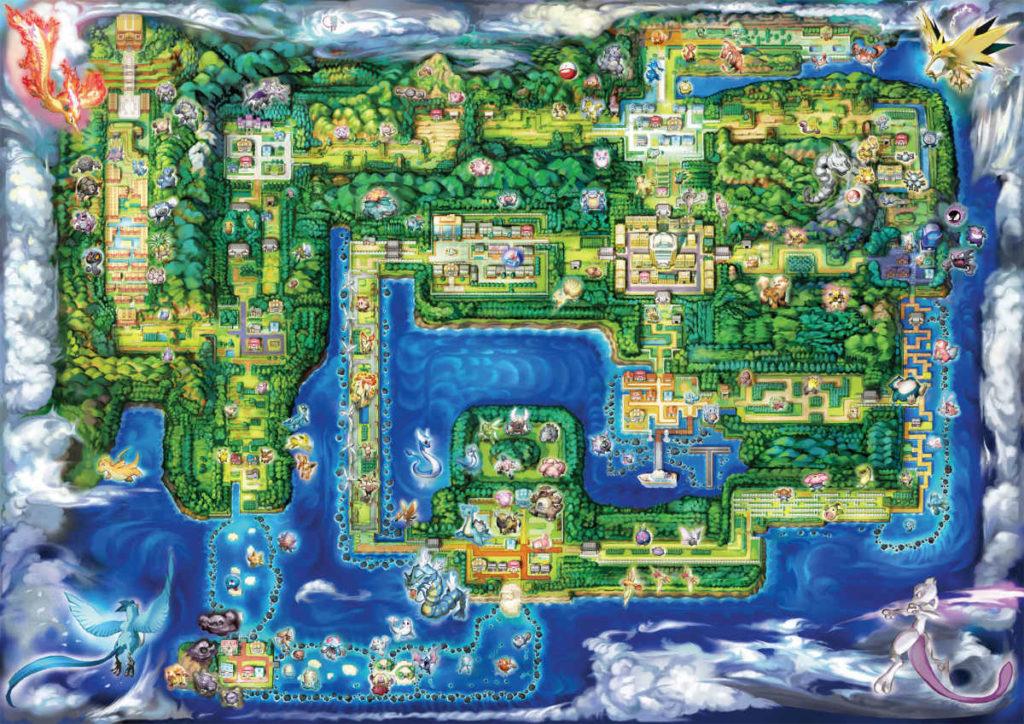 La maopa di Kanto, regione di Pokemon let's Go