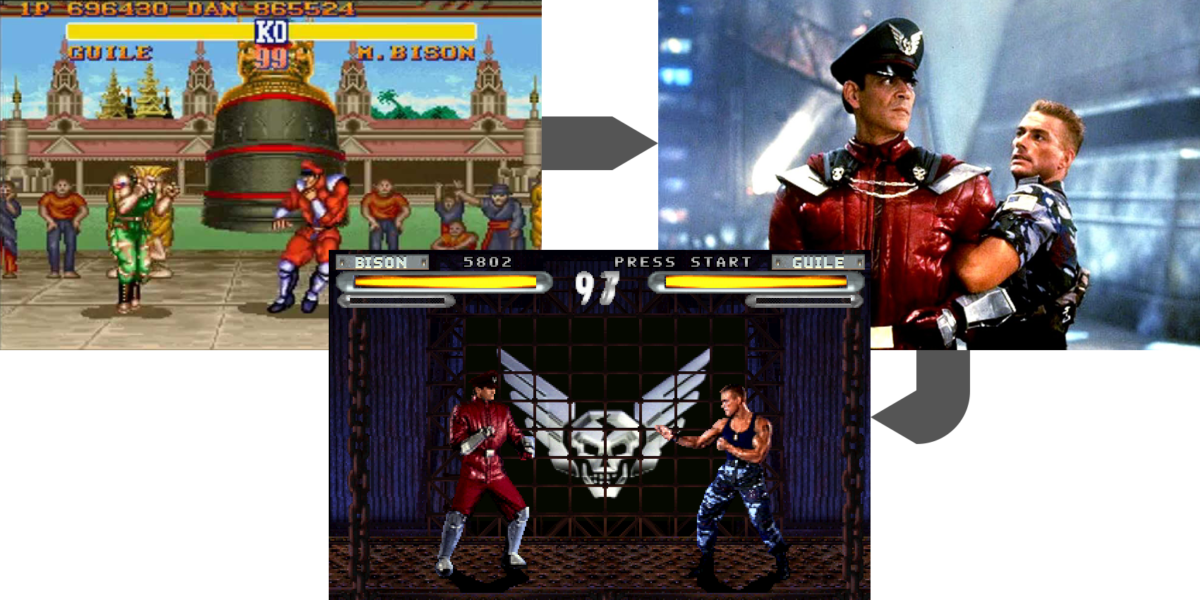 Esempio di gioco basato su film basato su gioco, con street fighter.