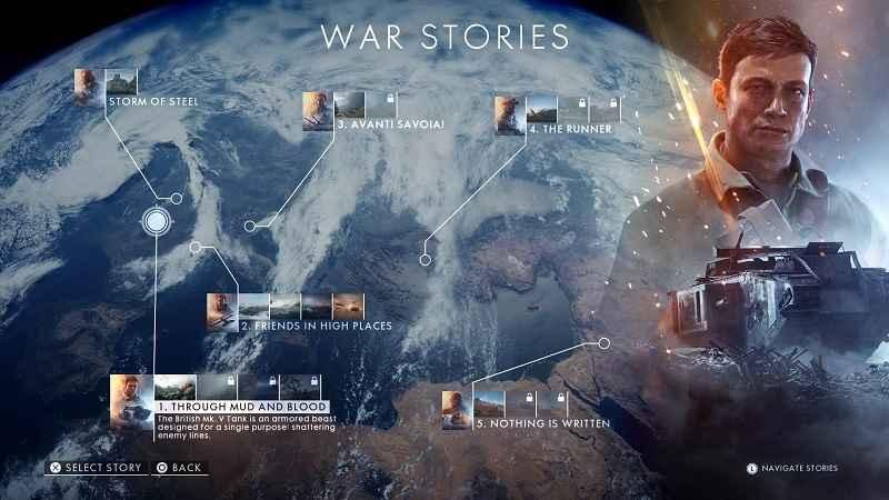 storie di guerra di battlefield 1