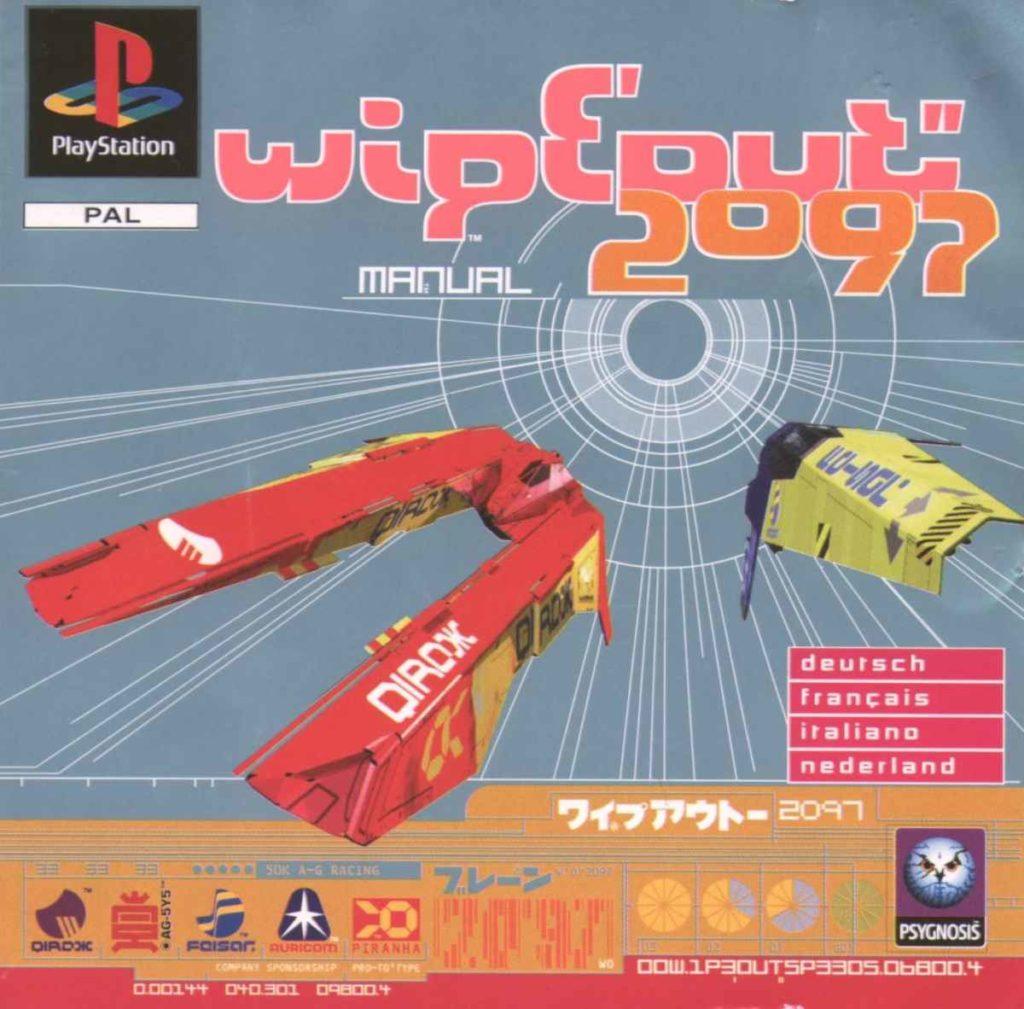 L'immagine di copertina per Playstation 1 di Wipeout 2097