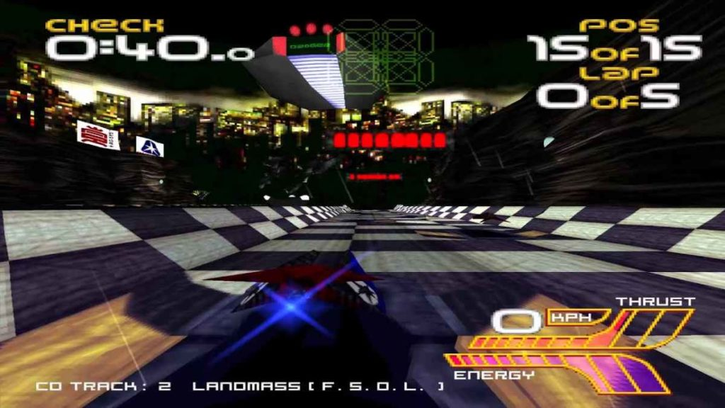 Immagine del gameplay di Wipeout