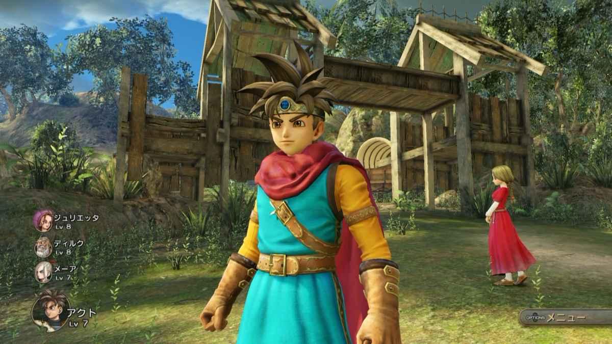 Screenshot da Dragon Quest Heroes 2 che ritrae Erdrick