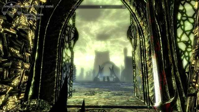 Il regno daedrico di Apocrypha, come appare nel DLC Dragonborn di Skyrim