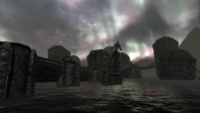 Alcune rovine Dwemer sommerse in Skyrim