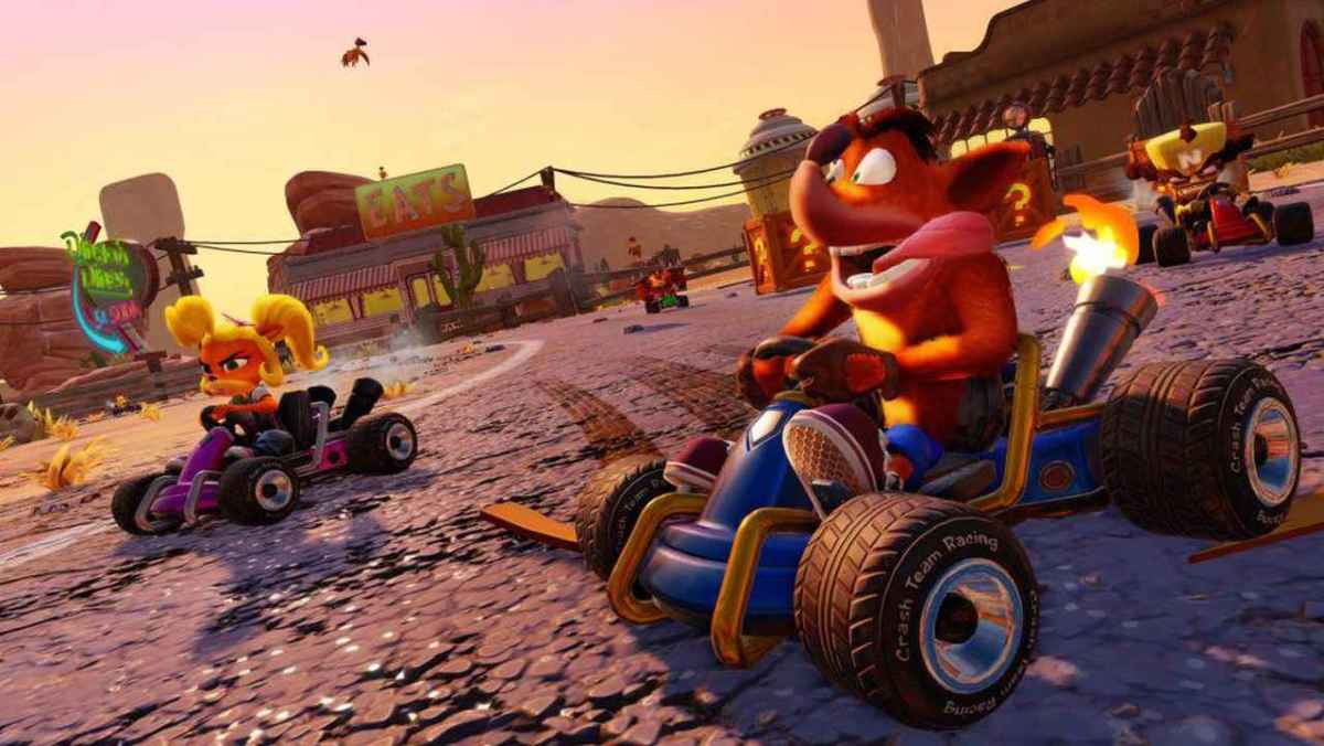 Crash-Nitro-Fueled Crash e Coco Kart