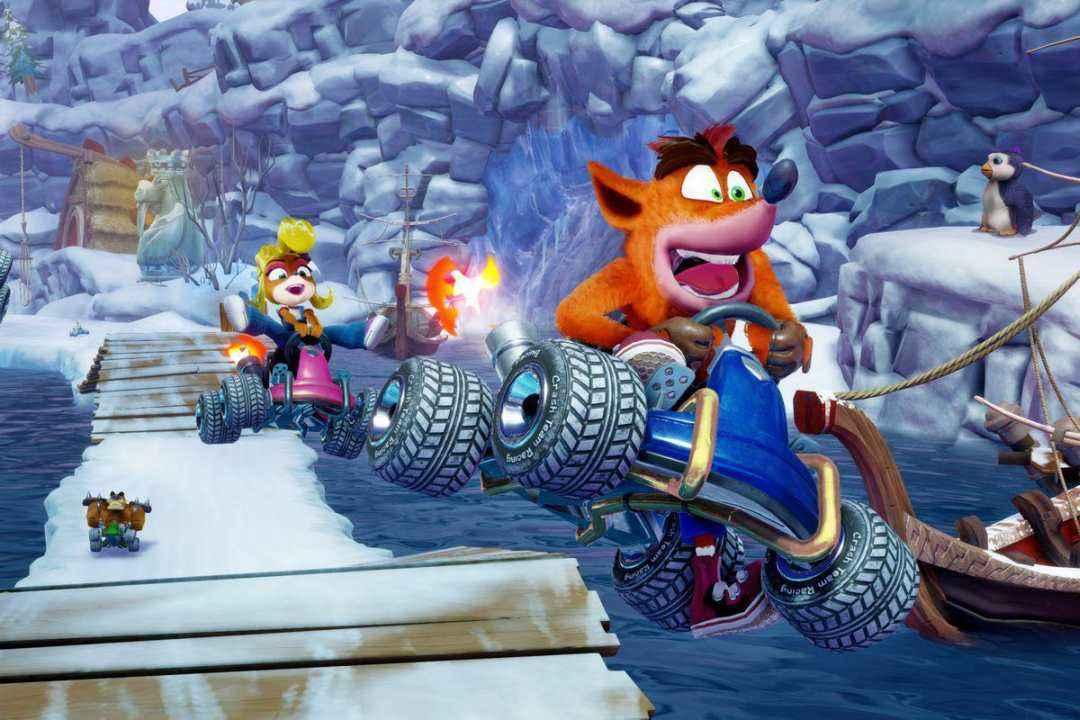 Crash-Nitro-Fueled crash salta con il kart