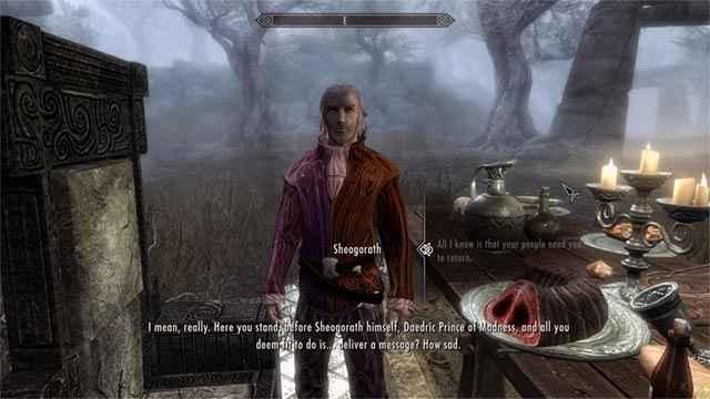 Un peculiare incontro col il Daedra Sheogorath in Skyrim