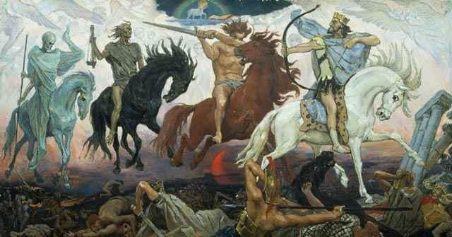 Die apokalyptischen Reiter (Gemälde von Wiktor Wasnezow)