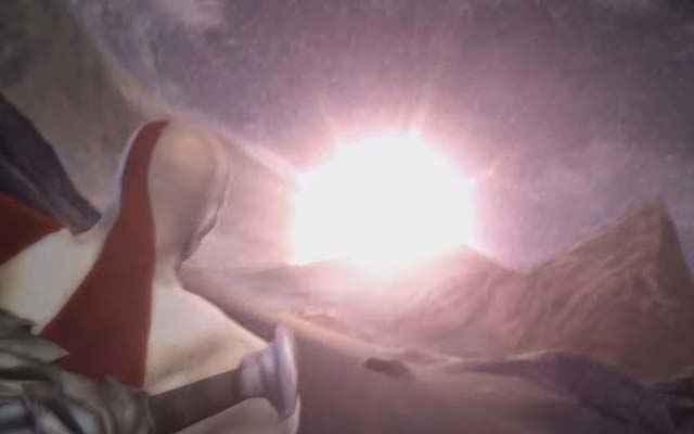 Il Sole precipita al suolo davanti a Kratos