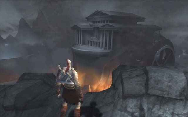Il tempio di Elio in God of War: Chains of Olympus