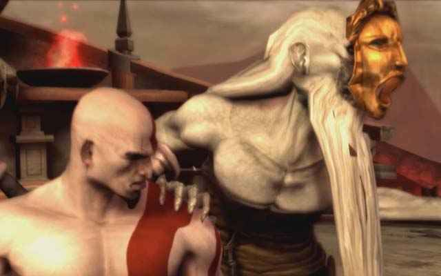 Kratos e Caronte in God of War: Chains of Olympus