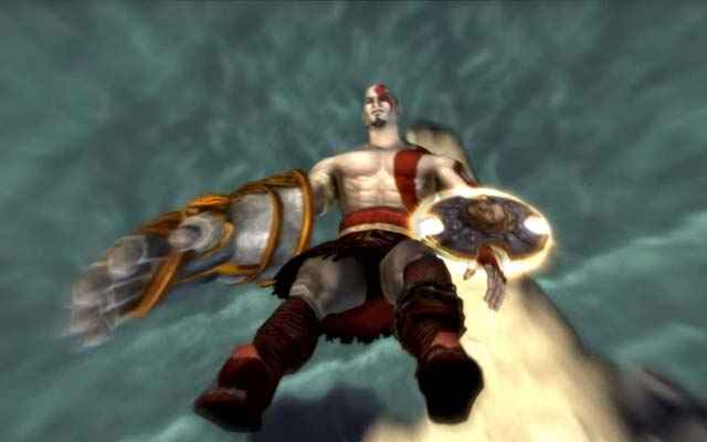 La caduta di Kratos alla fine di God of War: Chains of Olympus