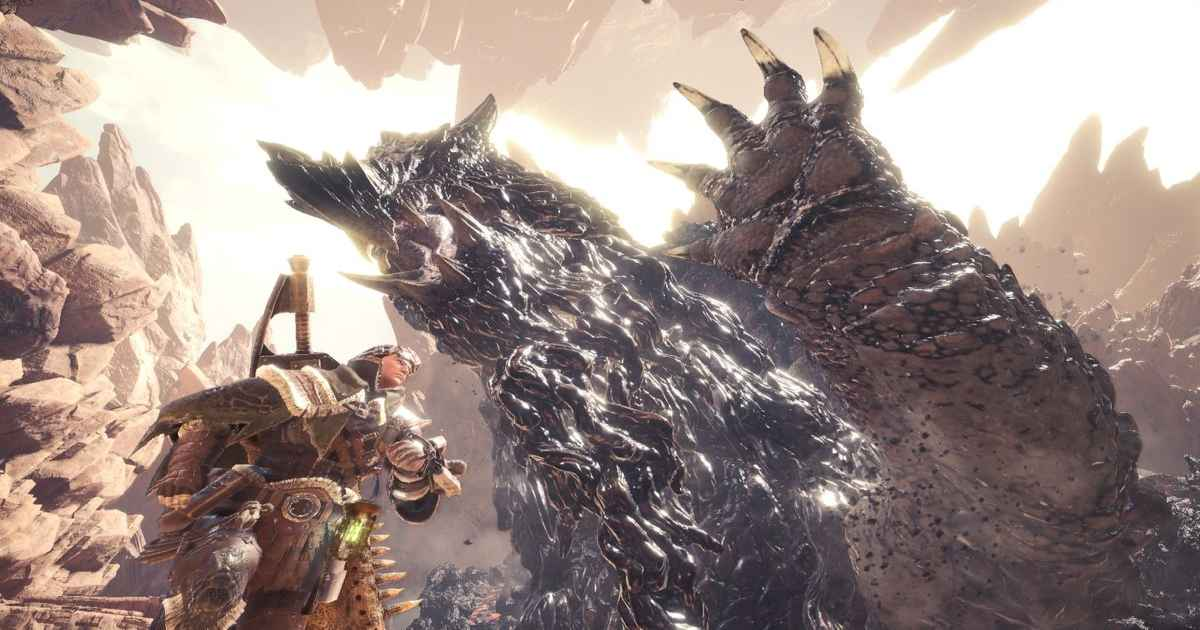 Screenshot da Monster Hunter World che mostra lo Zorah Magdaros