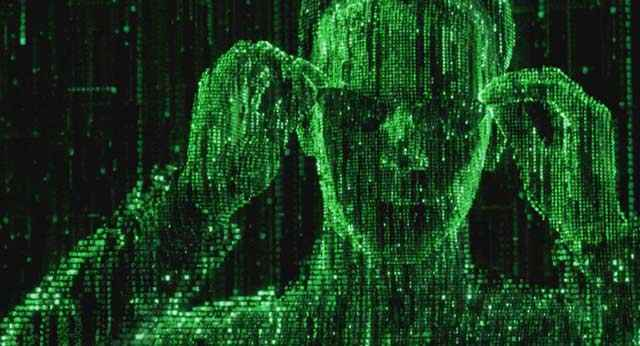 Neo vede il Codice in Matrix Reloaded