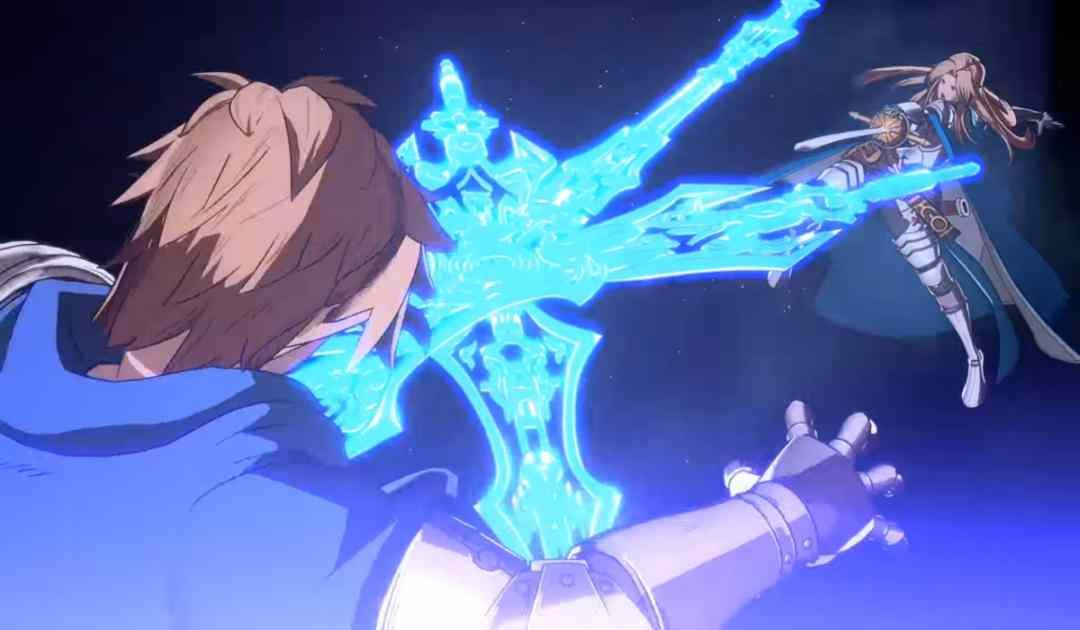Screenshot dal trailer di annuncio per Granblue Fantasy Versus che ritrae Gran e Katalina