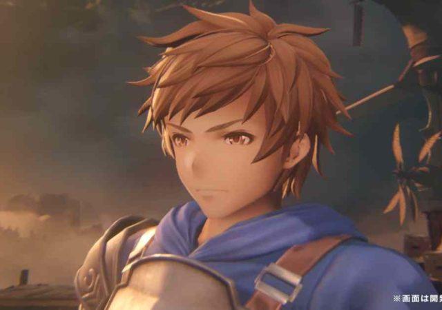 Screenshot dal video gameplay di Granblue Fantasy Project Re:Link che ritrae il protagonista maschile, Gran