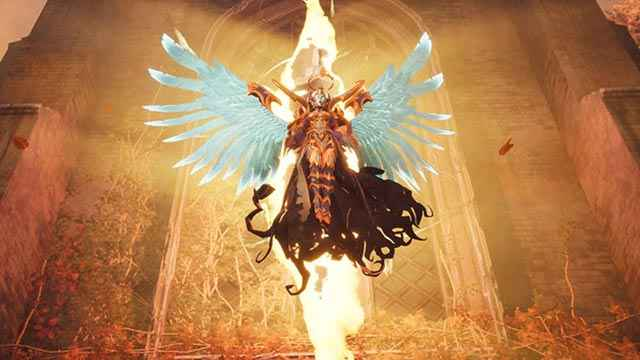 L'aspetto angelico di Superbia in Darksiders 3
