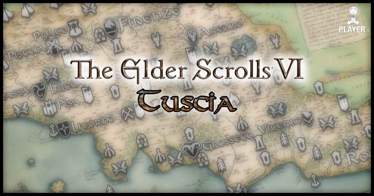 The elder scrolls tuscia fan made italia mappa