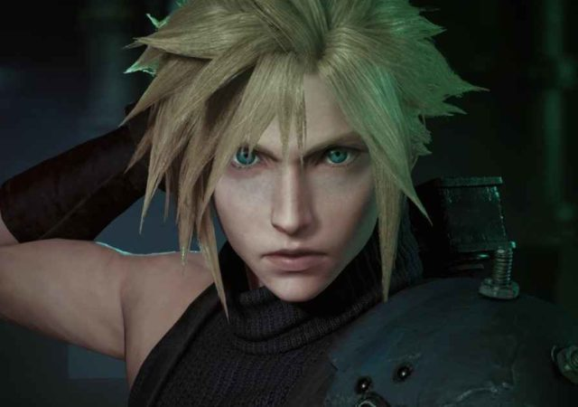 Un close-up di Cloud Strife, protagonista di Final Fantasy VII e di Final Fantasy VII Remake