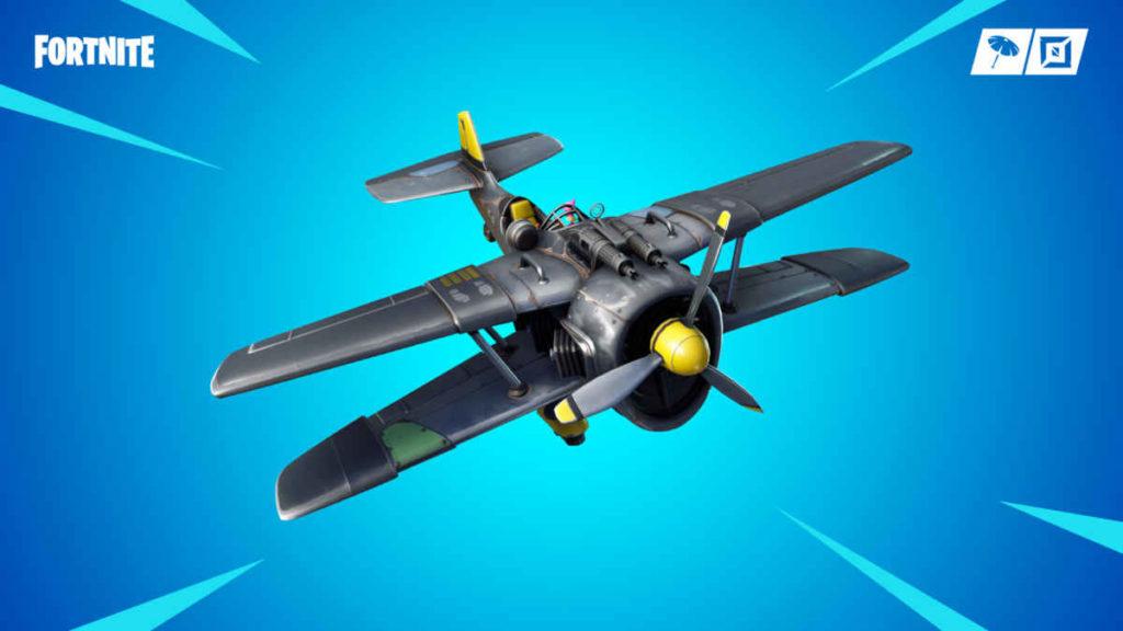 L'aeroplano presente tra i nuovi contenuti della stagione 7 di Fortnite