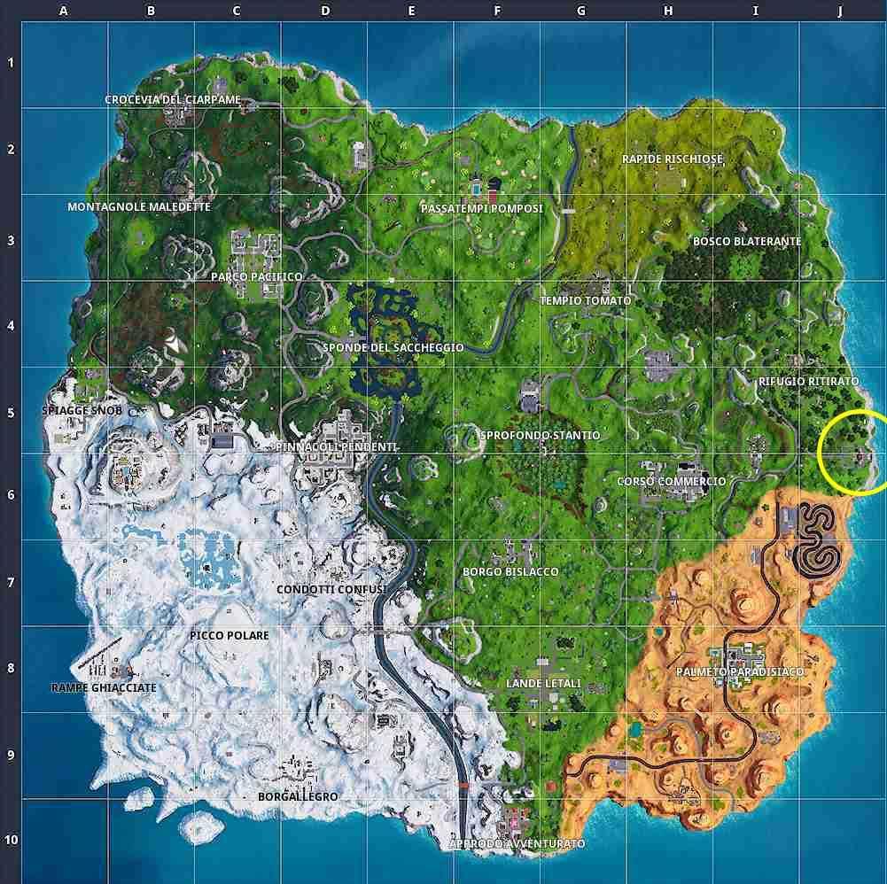 Fortnite stagione 7 settimana 2 mappa magione abbandonata dove ballare