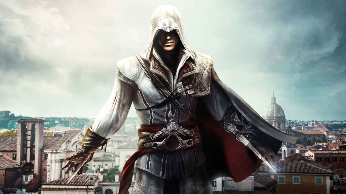 Immagine iconica di Ezio Auditore, protagonista di Assassin's Creed 2
