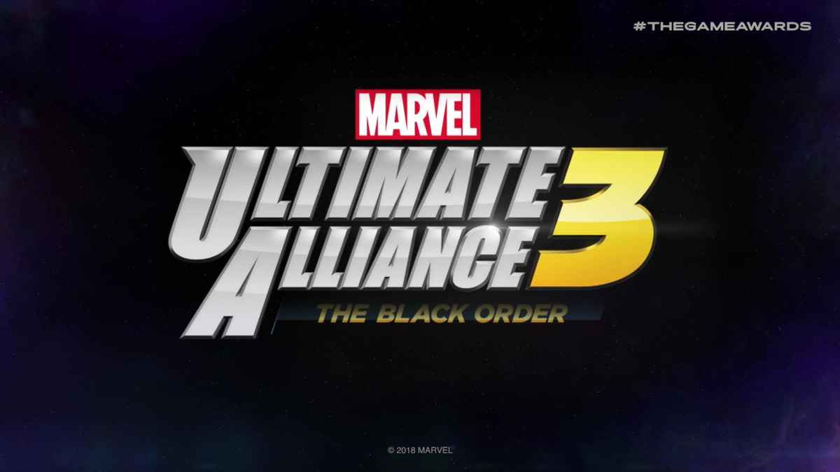 Immagine promozionale di Marvel ultimate Alliance 3, titolo presentato al the game awards 2018