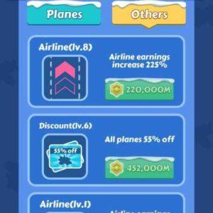 aumentare di livello gli aeroplani è fondamentale