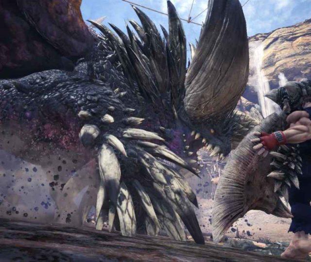 Ryu di Street Fighter nei panni di un provetto cacciatore in Monster Hunter World