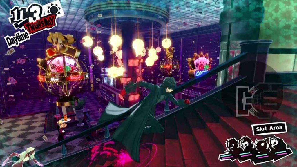 Uno screenshot rappresentante il gameplay di Persona 5