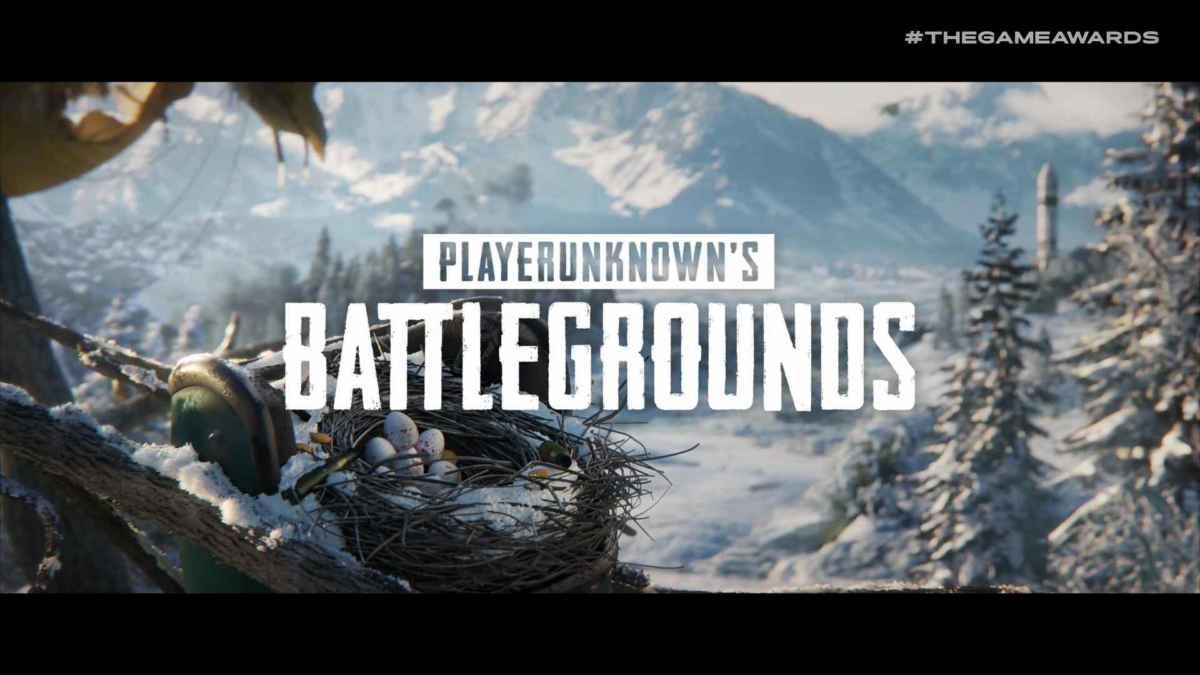 Immagine del trailer promozionale per la nuova mappa invernale di PUBG presentata al the game awards 2018