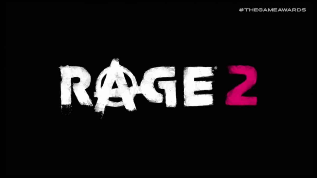 Logo di The Rage 2, il cui filmato di gameplay è stato mostrato al The Game Awards 2018