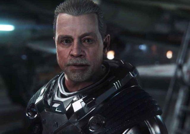 Uno screenshot del personaggio di Mark Hammil all'interno di Squadron 42