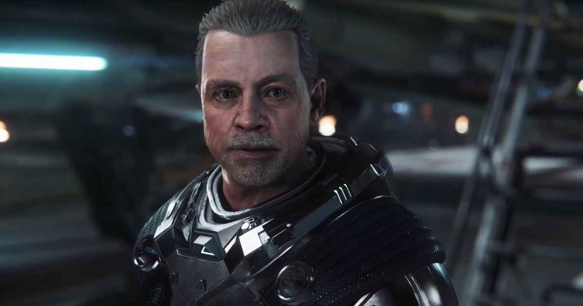 Uno screenshot del personaggio di Mark Hammil all'interno di Squadron 42
