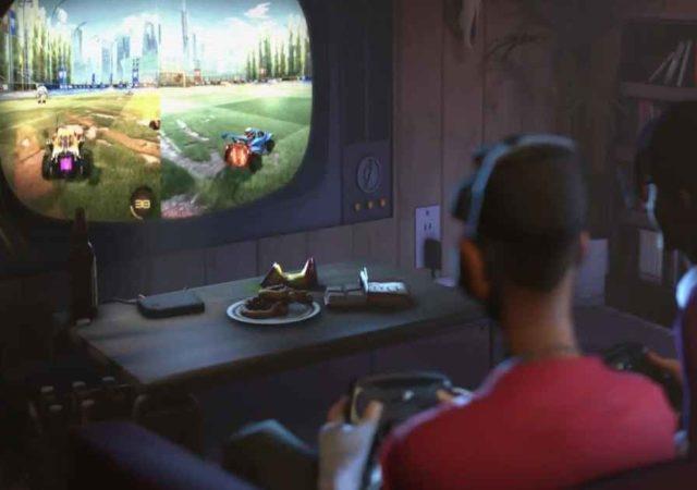 Immagine raffigurante lo Scout di Team Fortress 2 che gioca con lo Steam Link