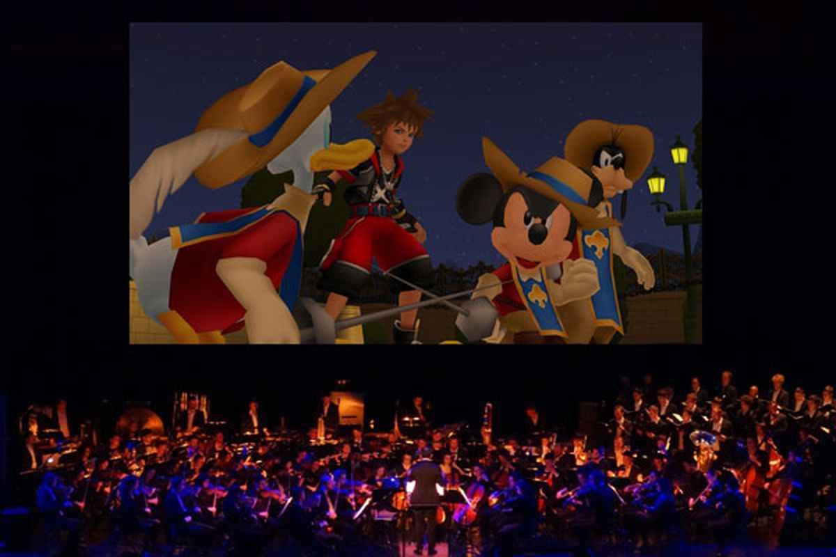Fotografia tratta dal primo concerto della Kingdom Hearts Orchestra del 2017