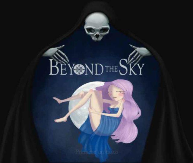 Schermata d'avvio di Beyond the Sky che ritrae la giovane Selene addormentata e circondata dalla Morte
