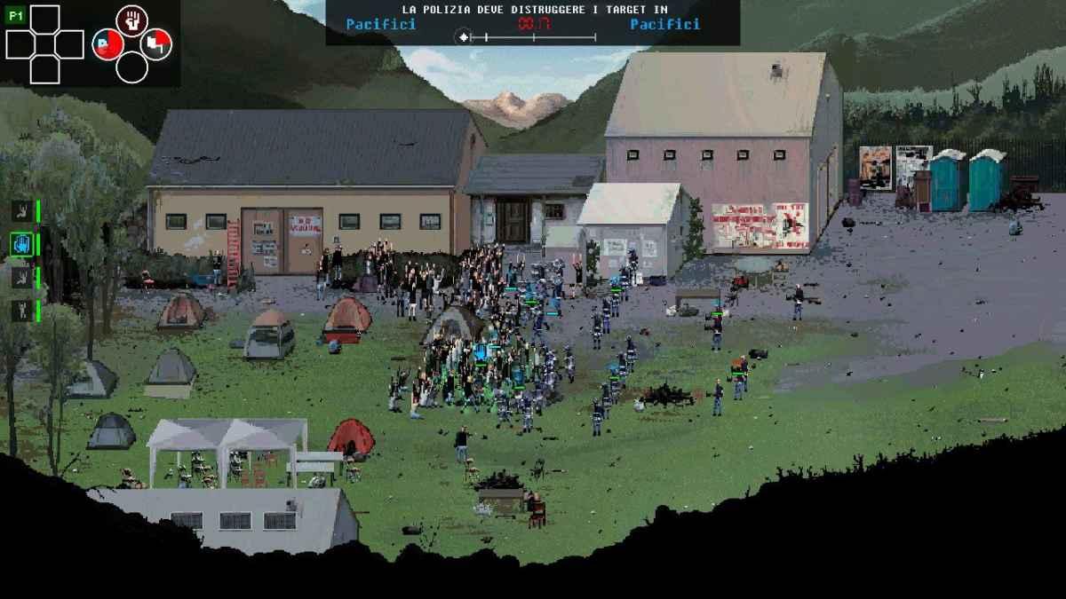 Screenshot di una partita multigiocatore in modalità Versus