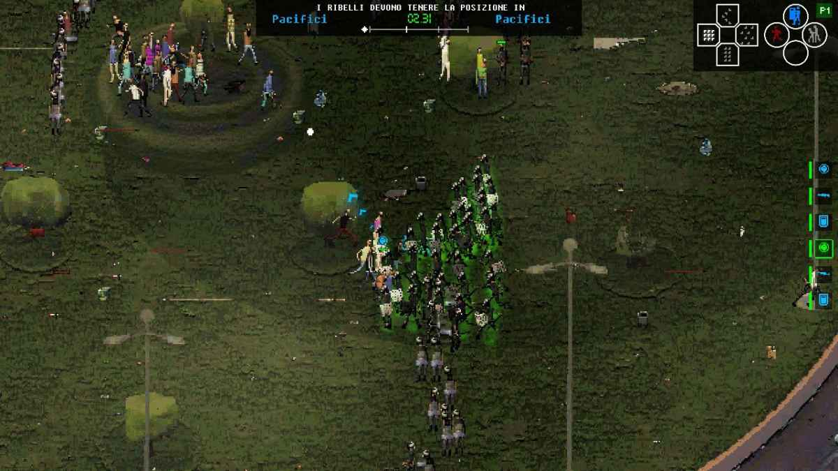 Screenshot del primo livello della Primavera Araba egiziana su Riot: Civil Unrest