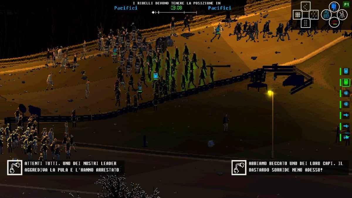 Screenshot dello stage dell'Autostrada a 32 su Riot: Civil Unrest dove la Polizia deve sgomberare il viadotto